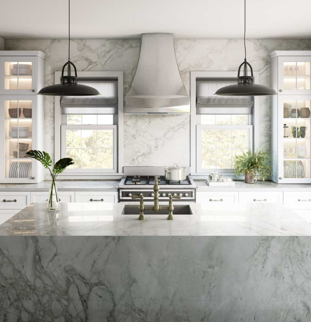Dekton Bergen ultracompact stone countertop kitchen