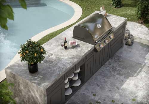 Dekton Orix compact surface outdoor grill