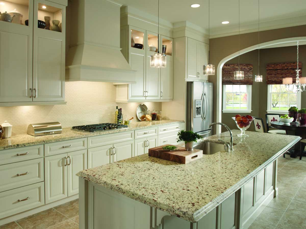 Sensa Crema Pearl granite countertop kitchen