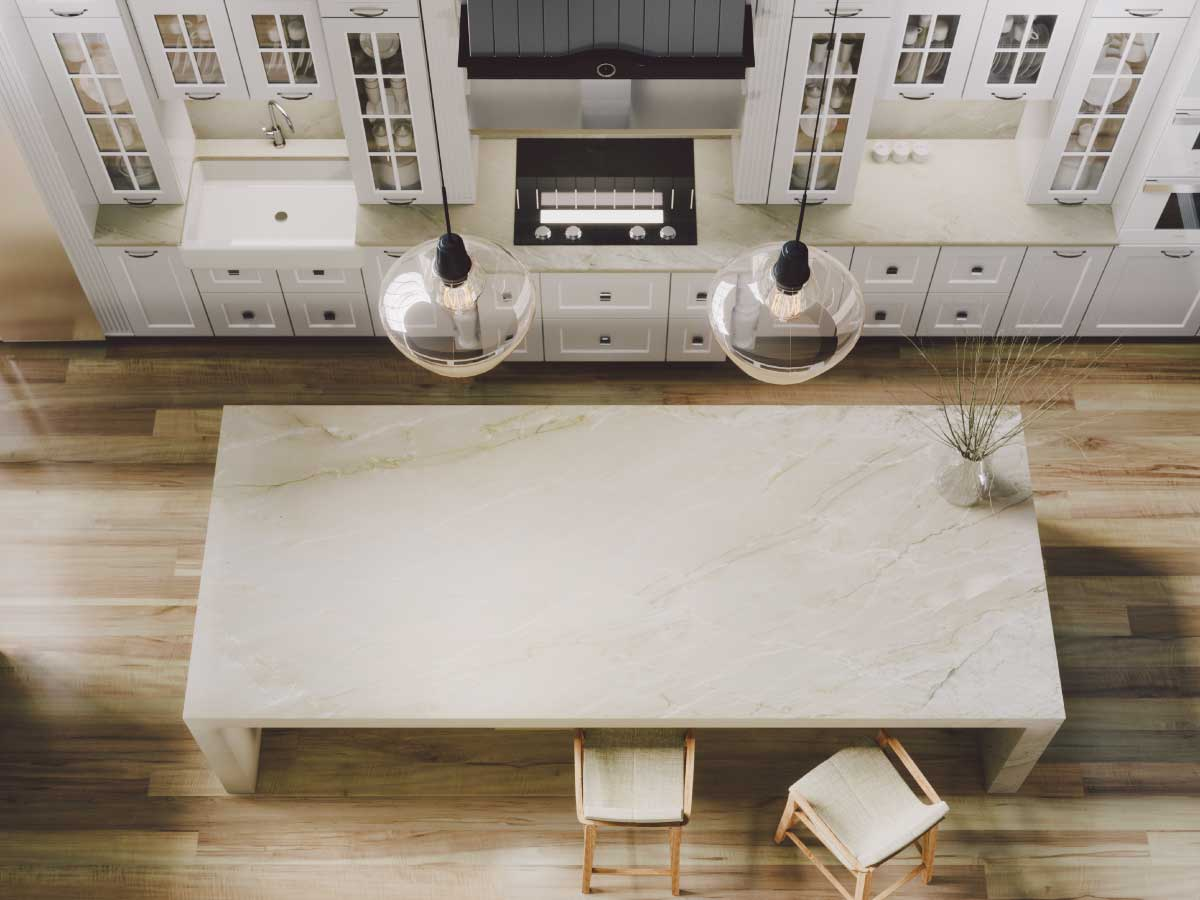 Sensa Gabana granite countertop kitchen