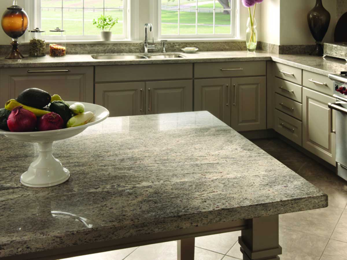 Sensa White Silk granite countertop kitchen