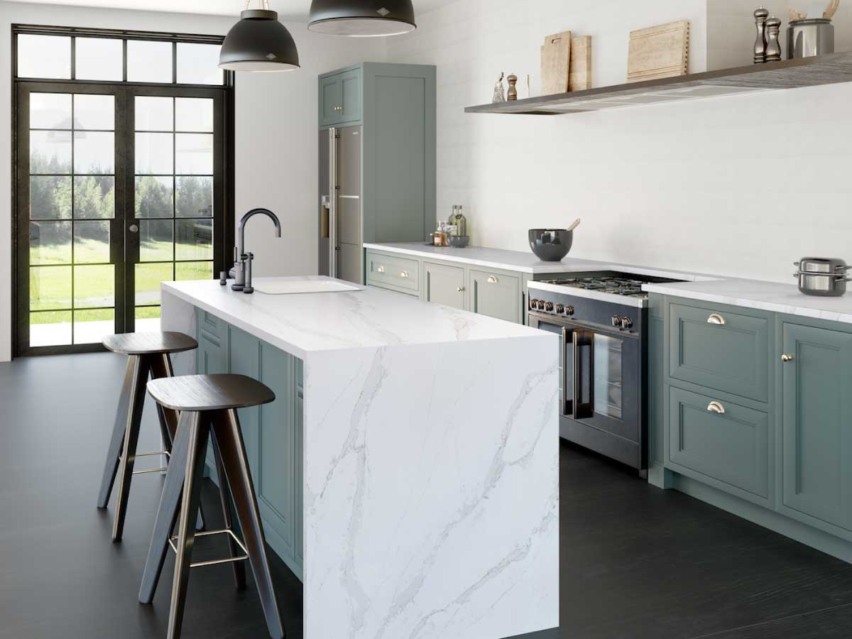 Silestone Calacatta Gold quartz countertop kitchen