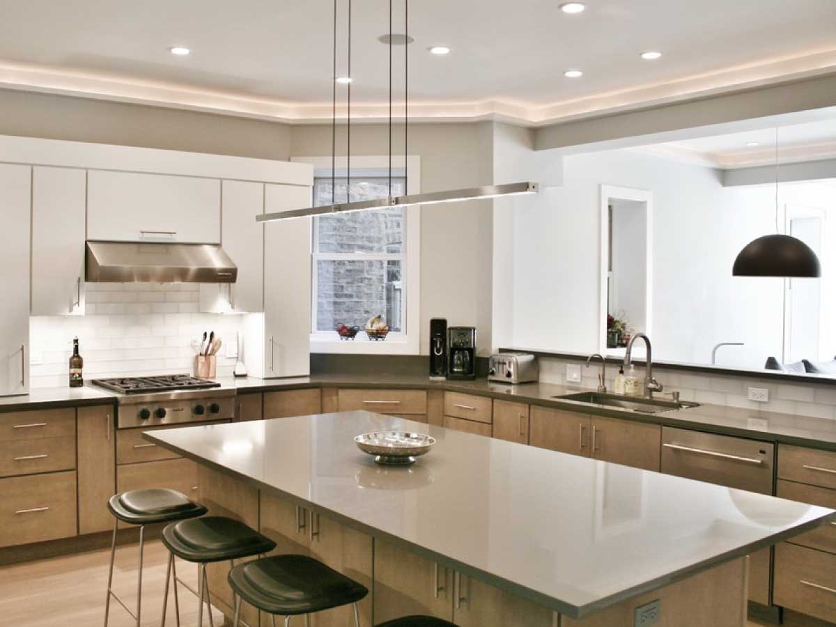 Silestone Cemento quartz countertop kitchen