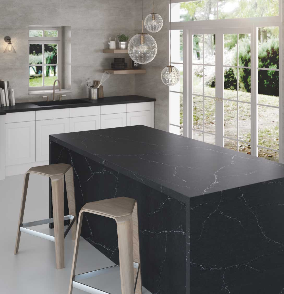 Silestone Charcoal Soapstone quartz countertop kitchen