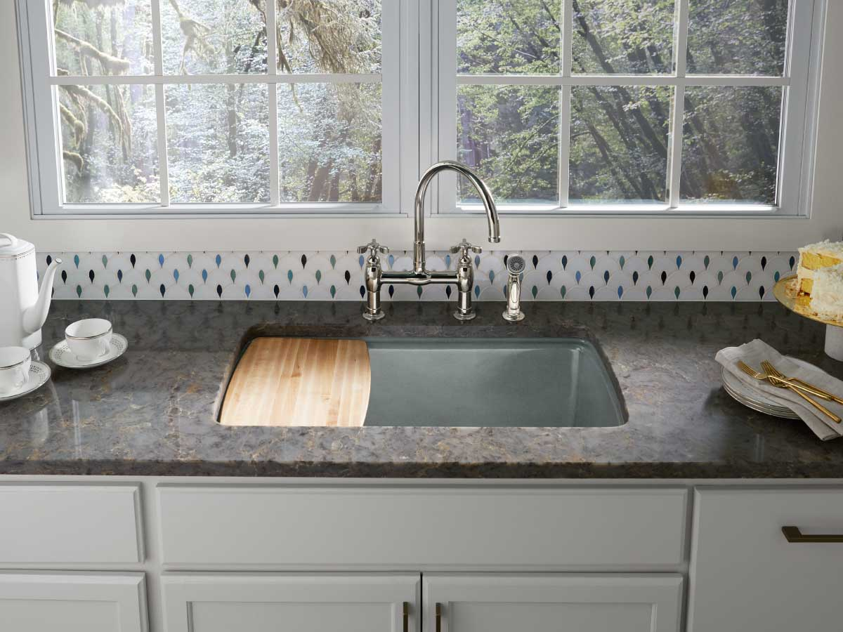 Silestone Copper Mist quartz countertop kitchen