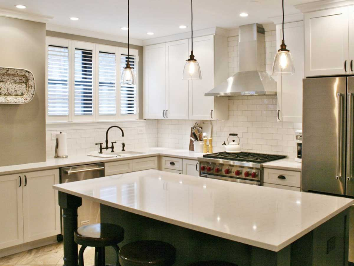 Silestone Lagoon quartz countertop kitchen
