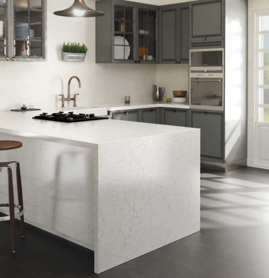 Silestone Pearl Jasmine quartz countertop kitchen