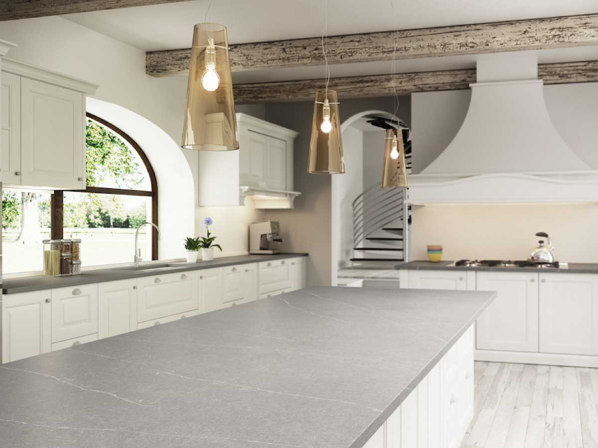 Silestone Serena quartz countertop kitchen