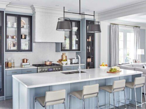 Silestone Snowy Ibiza quartz countertop kitchen