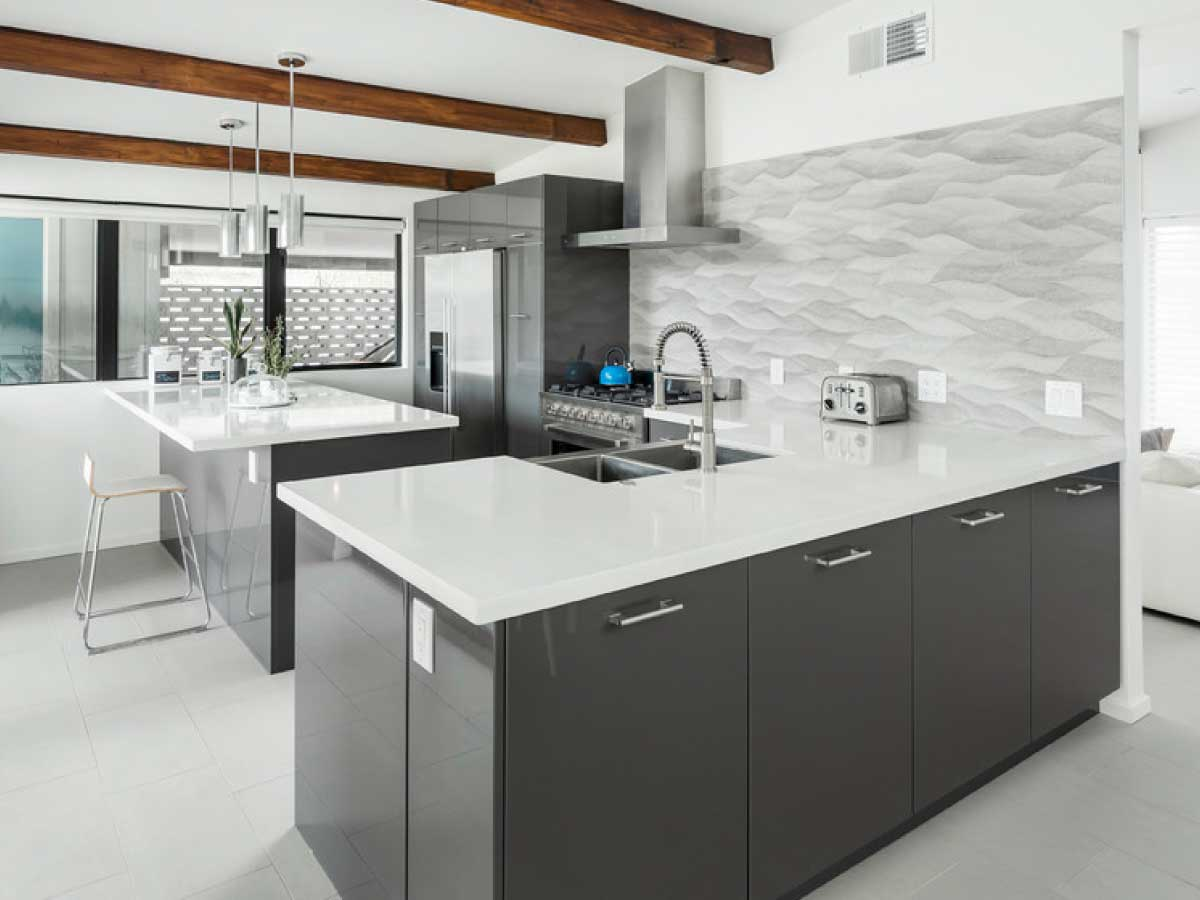Silestone White Zeus quartz countertop kitchen